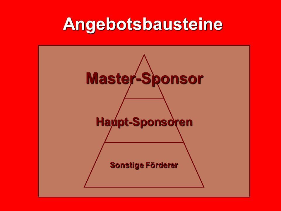 Angebotsbausteine Angebotsbausteine Master- Sponsor Haupt- Sponsoren Sonstige Förderer