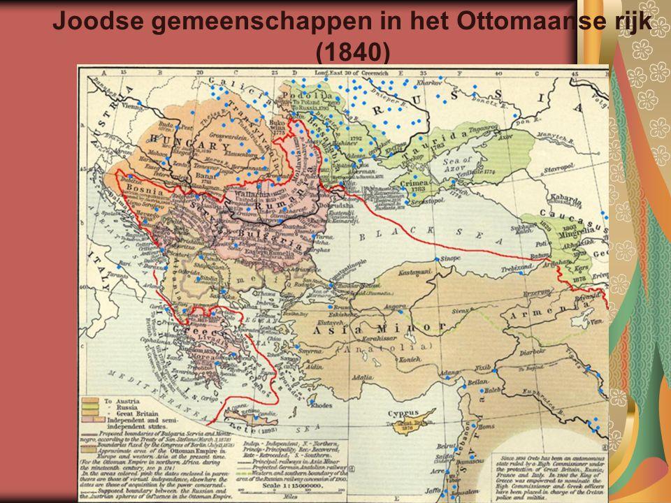 Joodse gemeenschappen in het Ottomaanse rijk (1840)