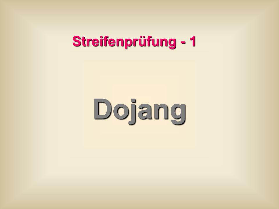 Streifenprüfung - 1 Dojang
