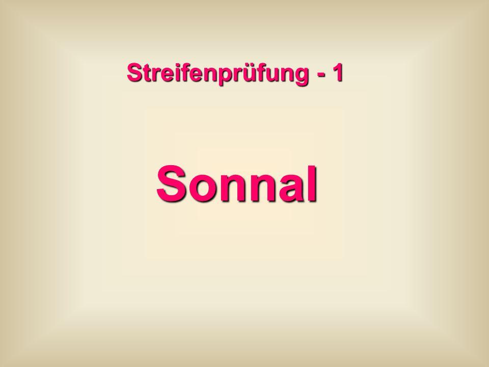 Streifenprüfung - 1 Sonnal