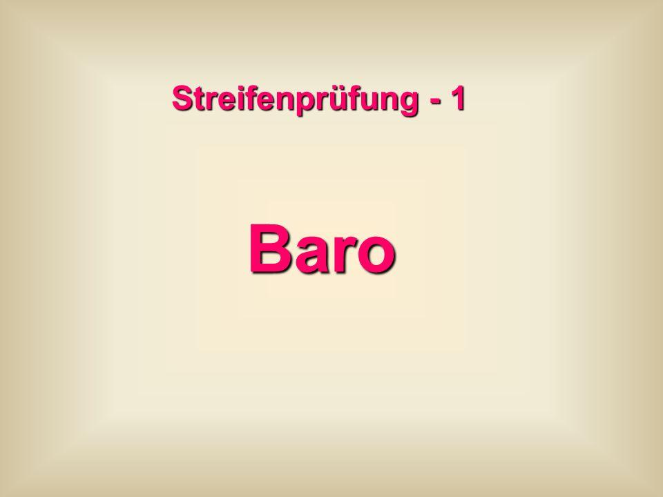 Streifenprüfung - 1 Baro