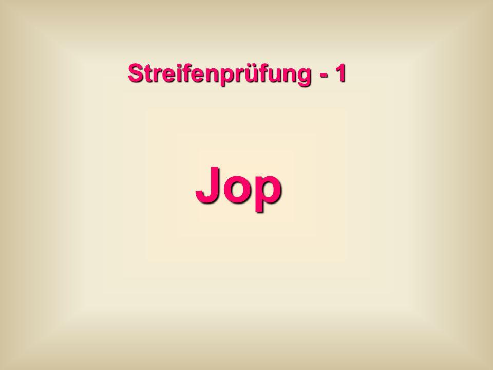 Streifenprüfung - 1 Jop