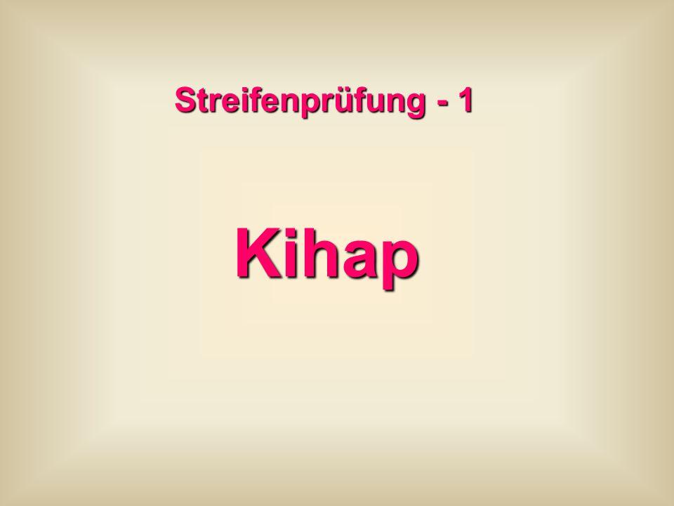 Streifenprüfung - 1 Kihap