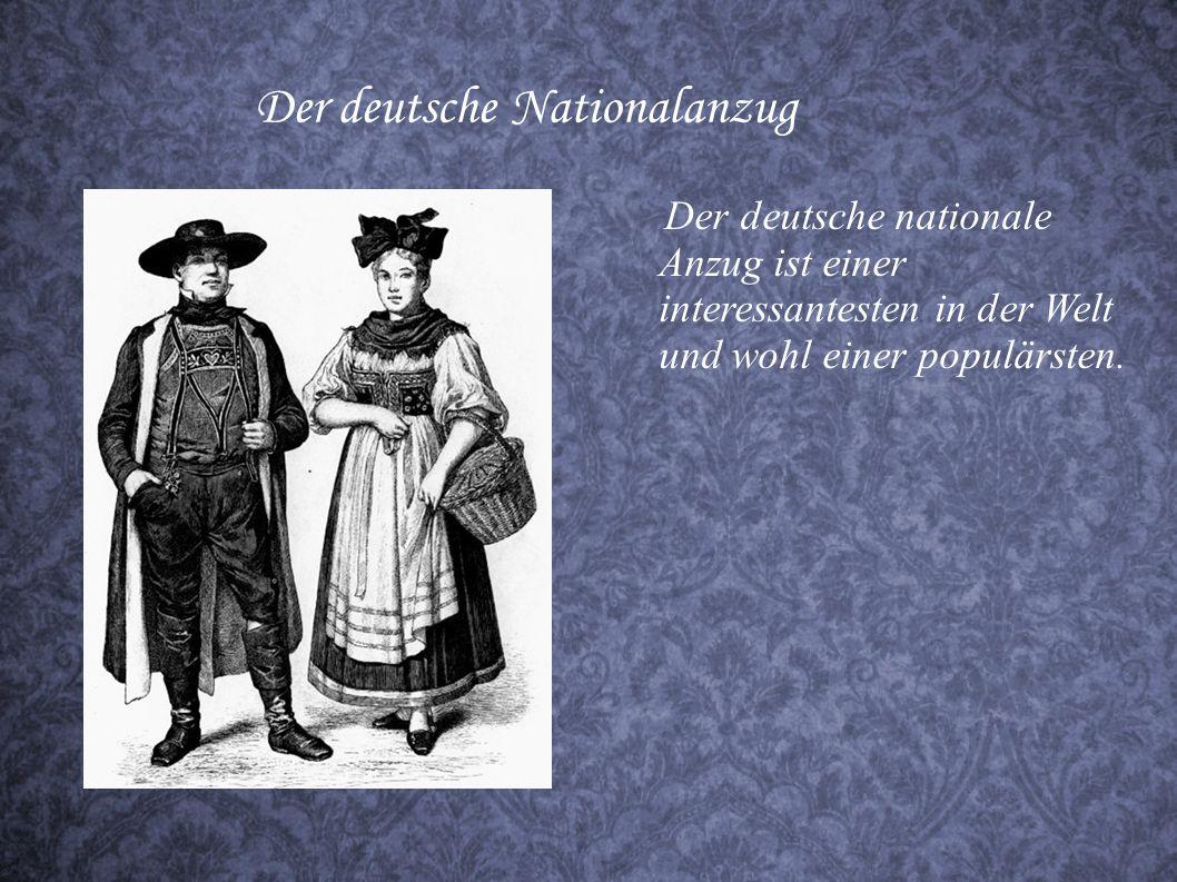 Deutsche Kleidung der 1.Hälfte des 19. Jahrhunderts Im 19.Jh wird in Deutschland und auch in einigen europäischen Ländern eine beherrschende Richtung
