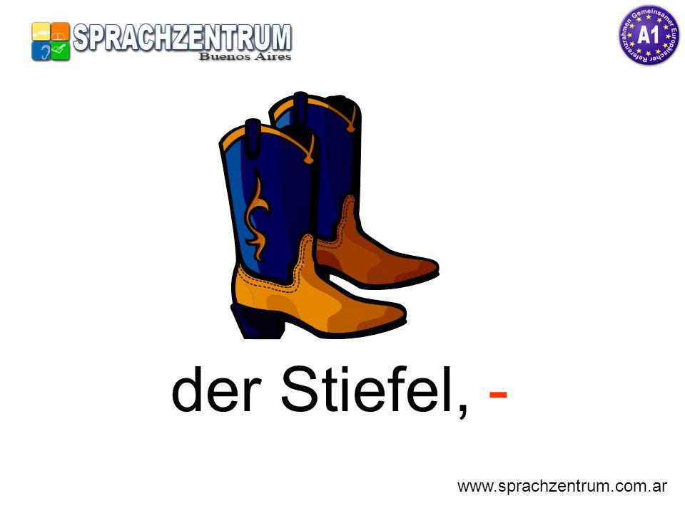 der Stiefel, - www.sprachzentrum.com.ar