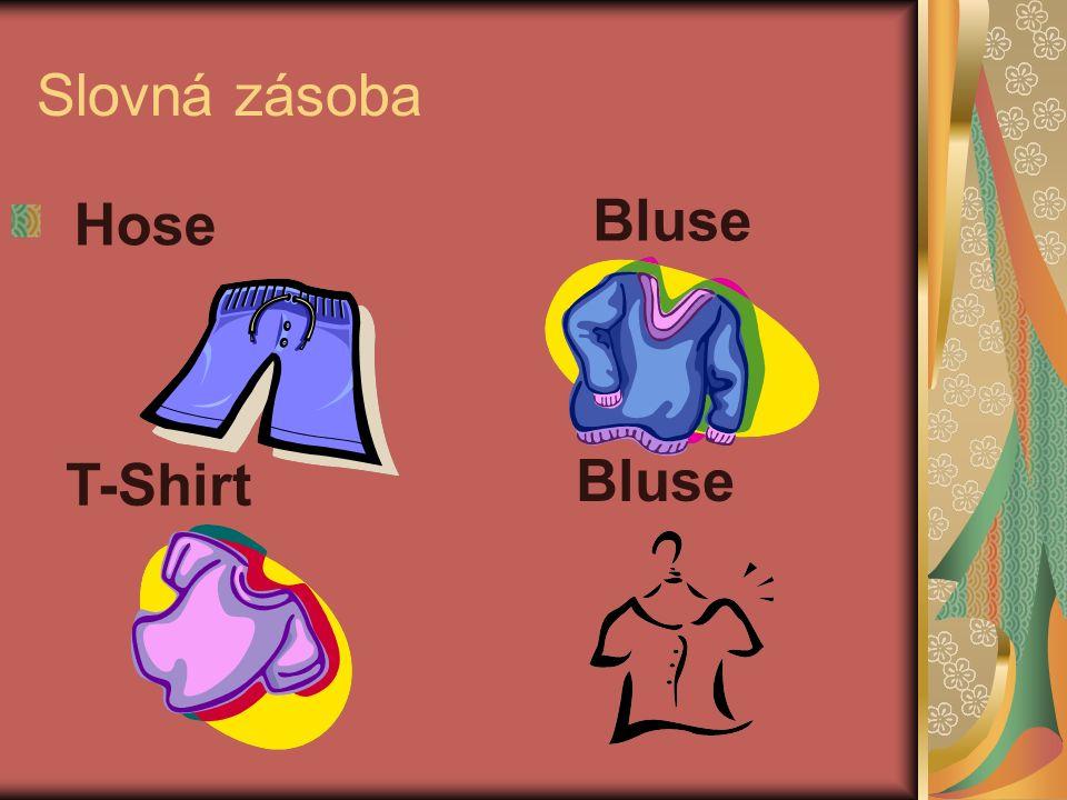 Slovná zásoba T-Shirt Bluse Hose Bluse