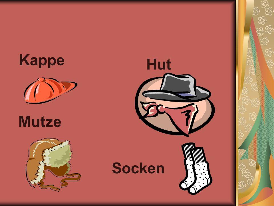 Kappe Hut Mutze Socken