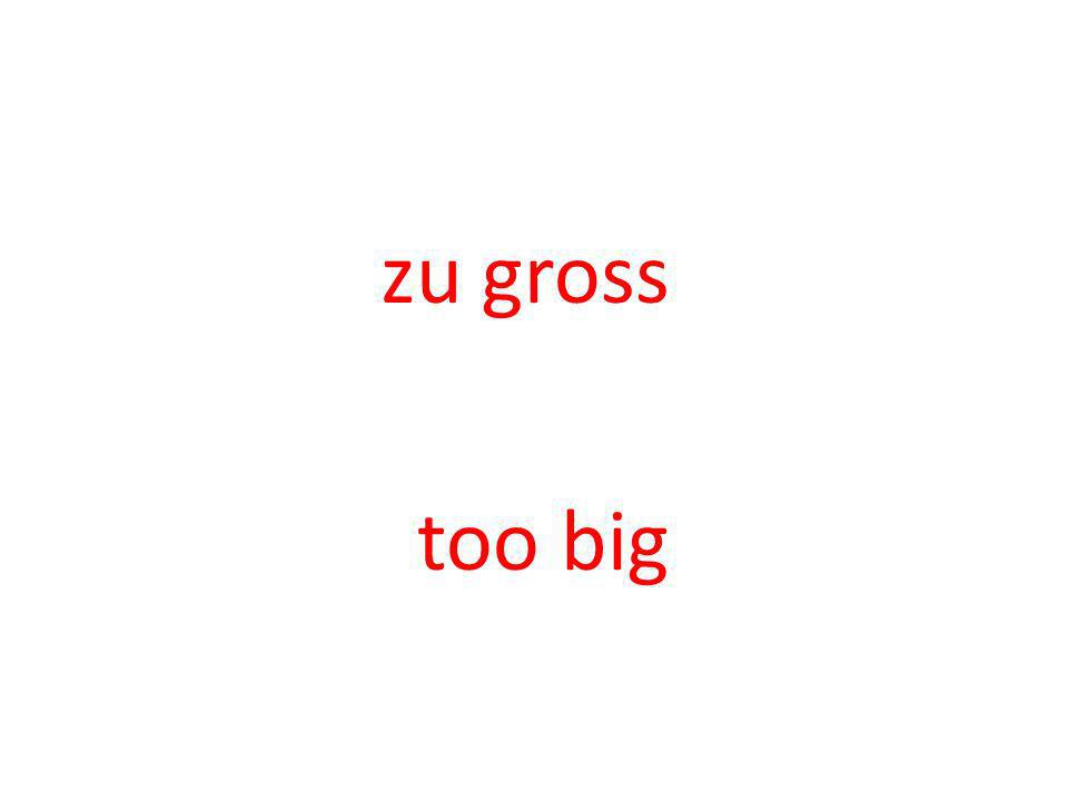 zu gross too big