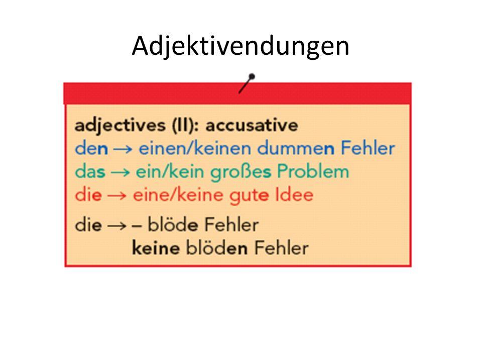 Adjektivendungen