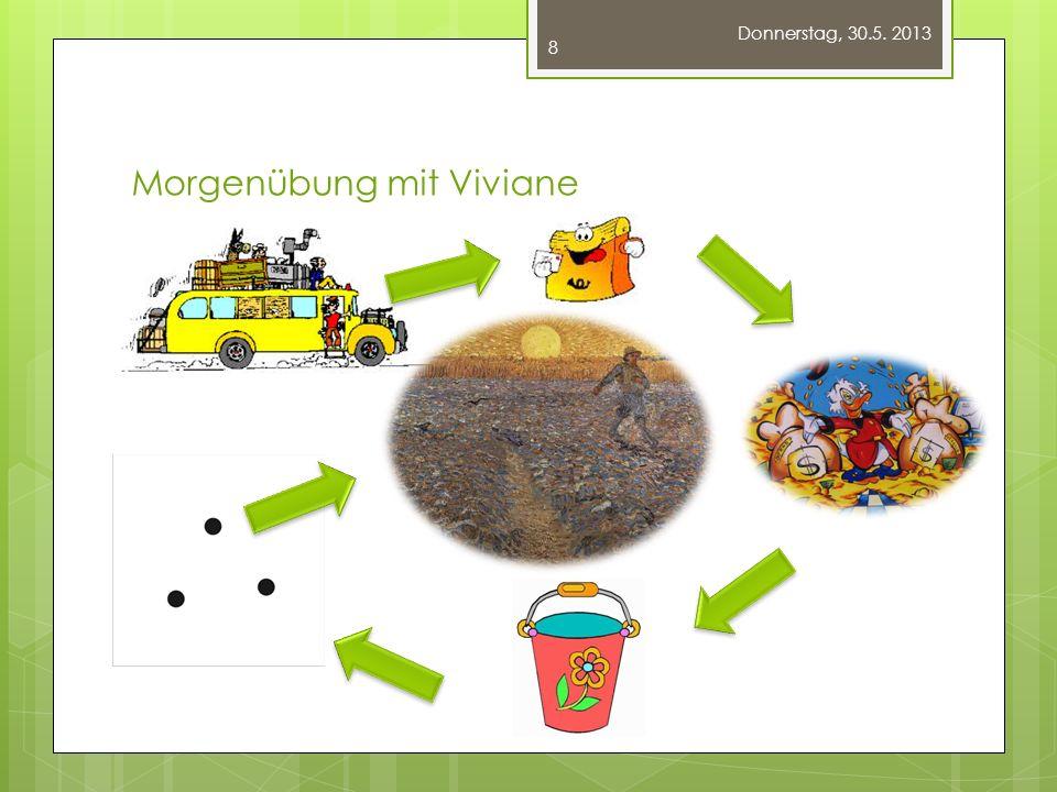 Morgenübung mit Viviane Donnerstag, 30.5. 2013 8