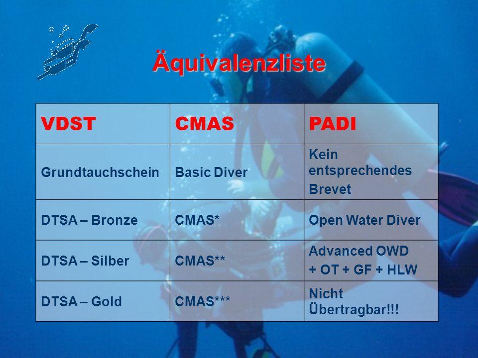 CMAS - Germany 10 kommerzielle Tauchsport-Verbände und der VDST e.V.