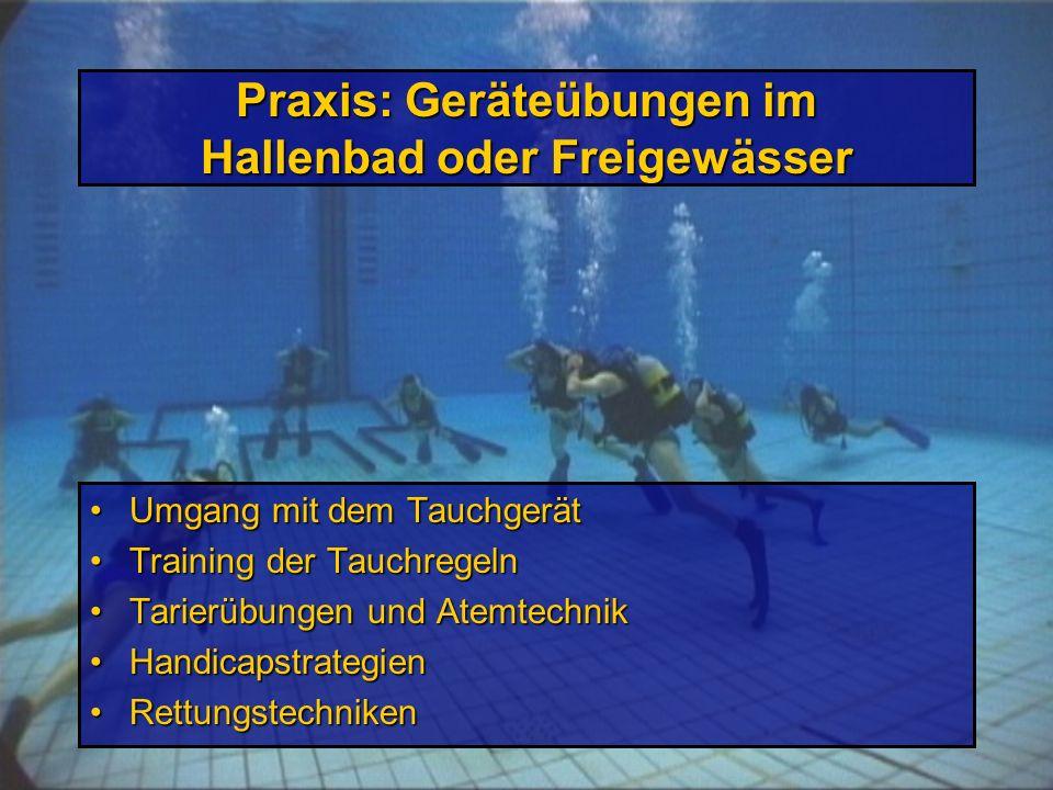 Praxis: Schnorchelübungen Umgang mit Maske, Schnorchel, Flossen (ABC)Umgang mit Maske, Schnorchel, Flossen (ABC) Schwimm- und TauchtechnikenSchwimm- u