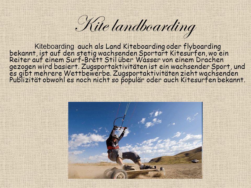 Kite landboarding Kiteboarding auch als Land Kiteboarding oder flyboarding bekannt, ist auf den stetig wachsenden Sportart Kitesurfen, wo ein Reiter auf einem Surf-Brett Stil über Wasser von einem Drachen gezogen wird basiert.