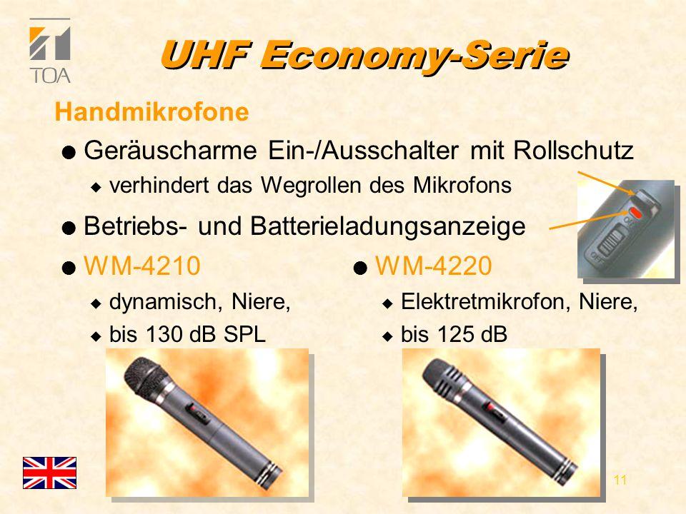 bcbc 10 UHF Economy-Serie Features l 16 Kanäle aus 1441 bzw..