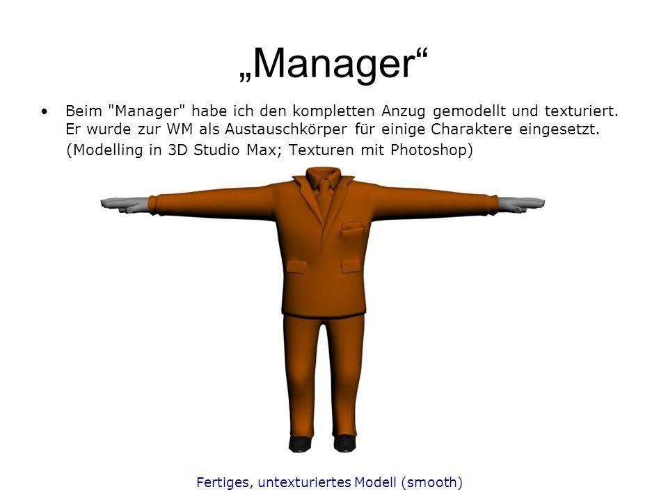 Fertiges, untexturiertes Modell (smooth) Manager Beim