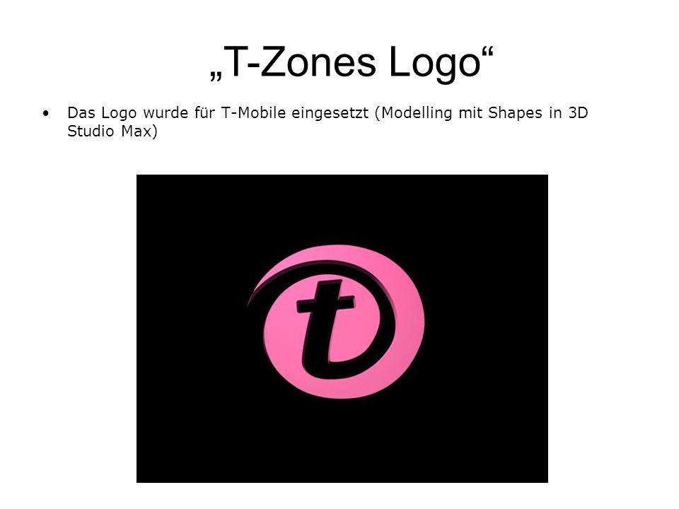 T-Zones Logo Das Logo wurde für T-Mobile eingesetzt (Modelling mit Shapes in 3D Studio Max)
