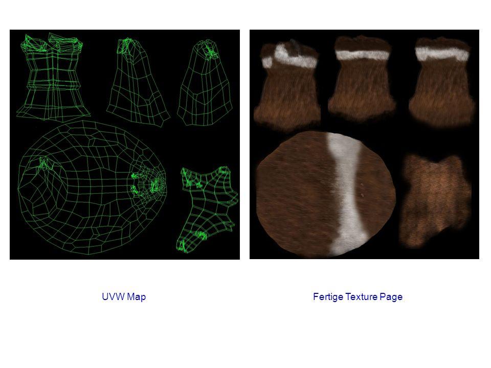 UVW MapFertige Texture Page