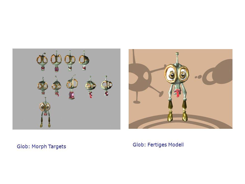 Glob: Morph Targets Glob: Fertiges Modell