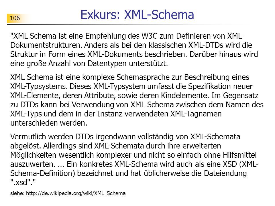 106 Exkurs: XML-Schema