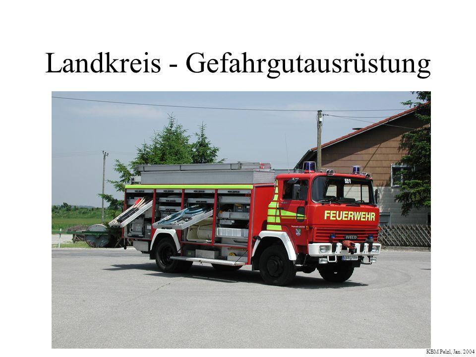 Kohlenmonoxid nach Brand KBM Pelzl, Jan.2004 Vom AK Gefahrgut wird für die Feuerwehren im Lkr.