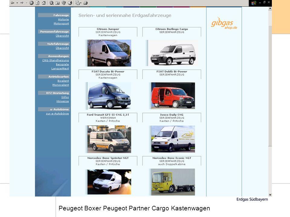 Feuerwehrschulung, Februar 2004 17 Peugeot Boxer Peugeot Partner Cargo Kastenwagen