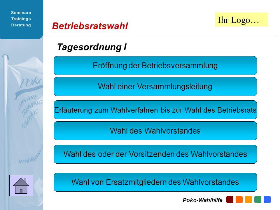 Betriebsratswahl 1.Wahl Versamm- lungsleitung 2.Wahlver- fahren – Wie gehts.