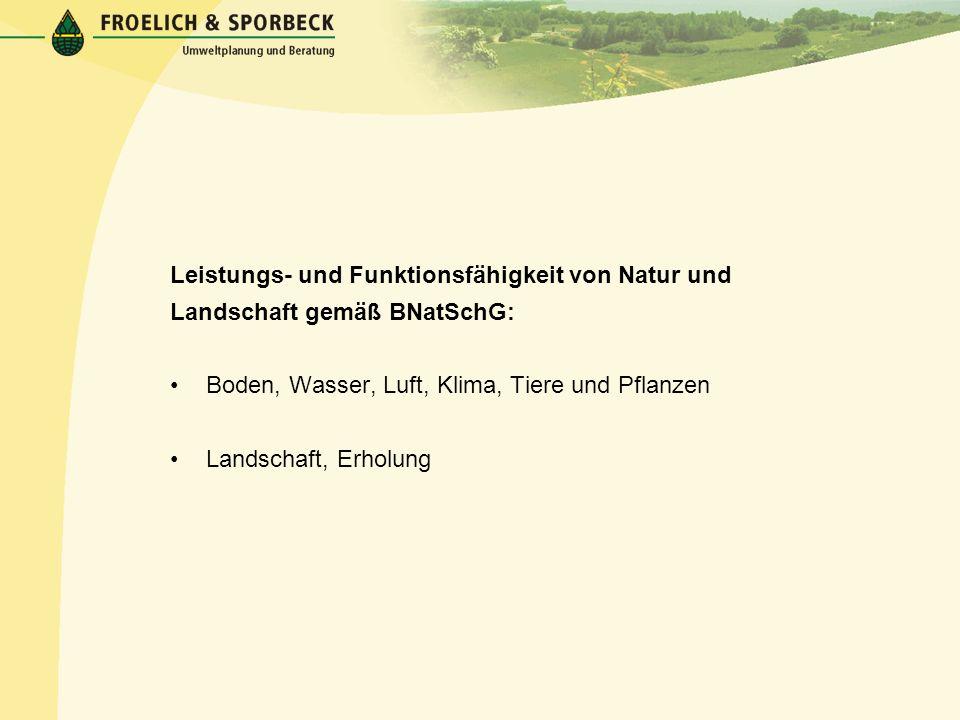 Rechtliche Grundlagen der Eingriffsregelung Gesetz über Naturschutz und Landschaftspflege (Bundesnaturschutzgesetz – BNatSchG) Vom 25.