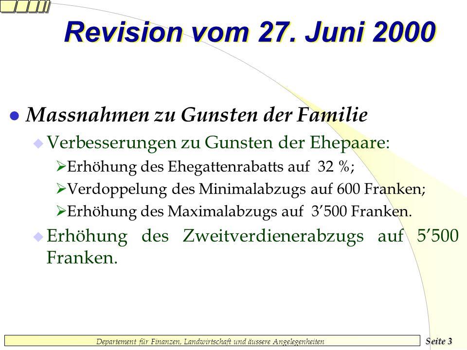 Seite 3 Departement für Finanzen, Landwirtschaft und äussere Angelegenheiten Revision vom 27.