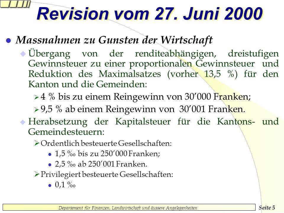 Seite 5 Departement für Finanzen, Landwirtschaft und äussere Angelegenheiten Revision vom 27.