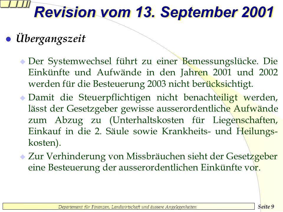 Seite 9 Departement für Finanzen, Landwirtschaft und äussere Angelegenheiten Revision vom 13.
