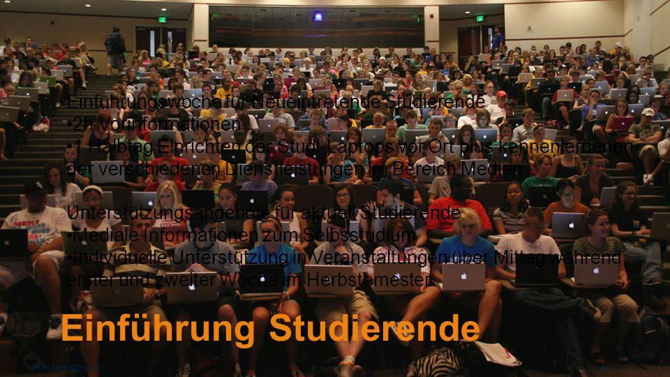Einführung Studierende peter.suter@phzh.ch 29 Einführungswoche für Neueintretende Studierende 2h Vorinformationen 1 Halbtag Einrichten der Studi-Lapto