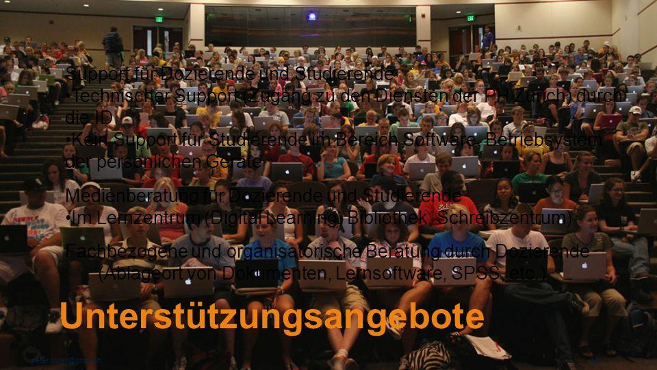 Unterstützungsangebote peter.suter@phzh.ch 30 Support für Dozierende und Studierende Technischer Support (Zugang zu den Diensten der PH Zürich) durch