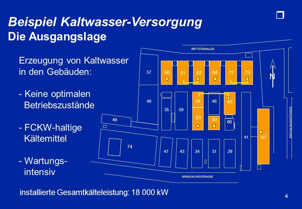 r 4 installierte Gesamtkälteleistung: 18 000 kW 74 4743343129 3550 65 57 61 62 64 72 73 86 93 40 90 49 66 GRENZACHERSTRASSE WETTSTEINALLEE BERGALINGER