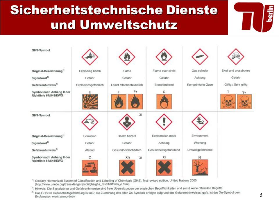 13 Sicherheitstechnische Dienste und Umweltschutz