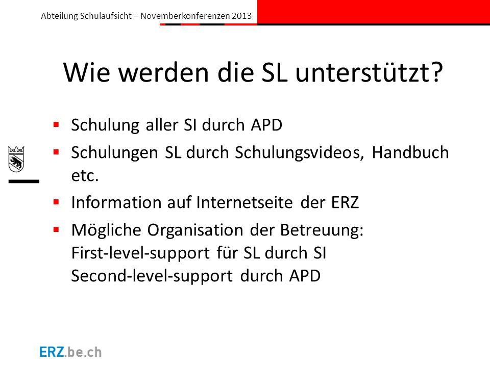 Abteilung Schulaufsicht – Novemberkonferenzen 2013 Wie geht es weiter mit der ePM.