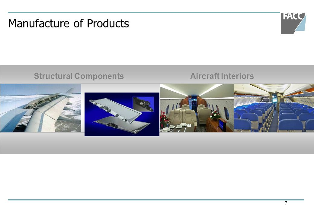 7 Manufacture of Products Structural ComponentsAircraft Interiors