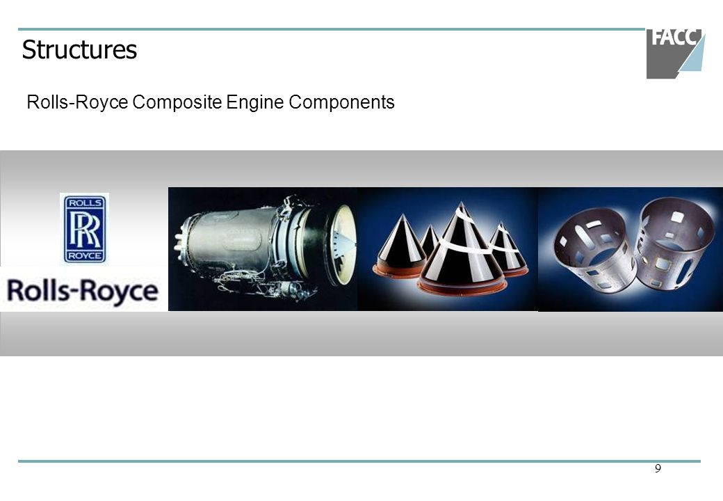 9 Structures Rolls-Royce Composite Engine Components