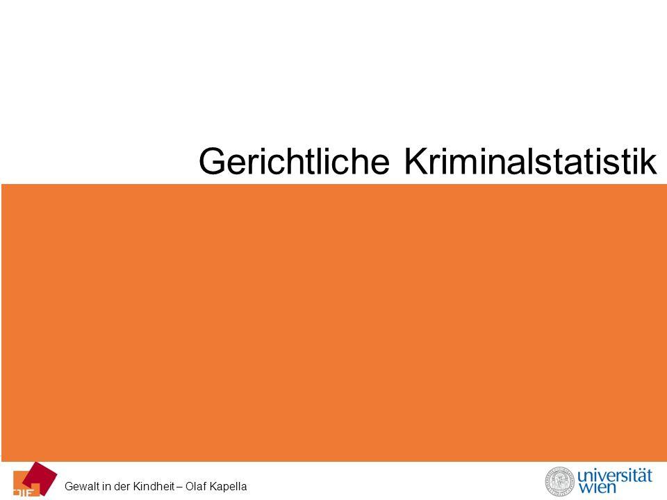 Gewalt in der Kindheit – Olaf Kapella Gerichtliche Kriminalstatistik