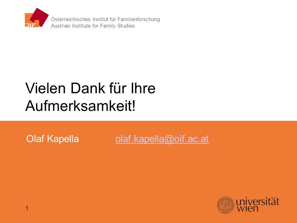 Gewalt in der Kindheit – Olaf Kapella Vielen Dank für Ihre Aufmerksamkeit! Olaf Kapellaolaf.kapella@oif.ac.atolaf.kapella@oif.ac.at 1 Österreichisches