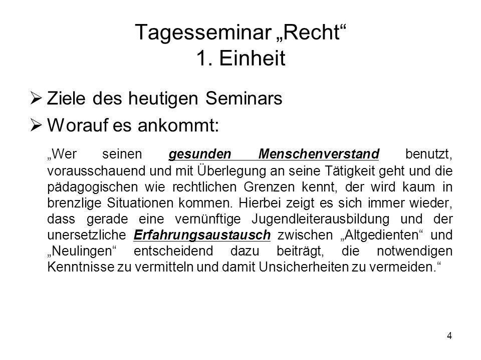 5 Tagesseminar Recht 2.