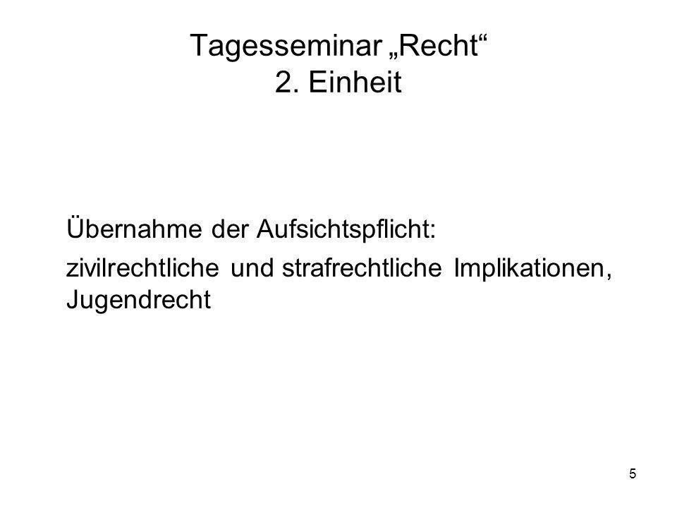 6 Tagesseminar Recht 2.