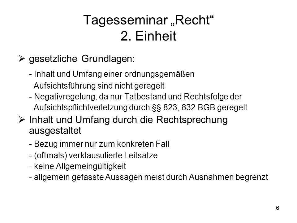 57 Praxistag Recht 6. Einheit Auf Wiedersehen in Kölle!