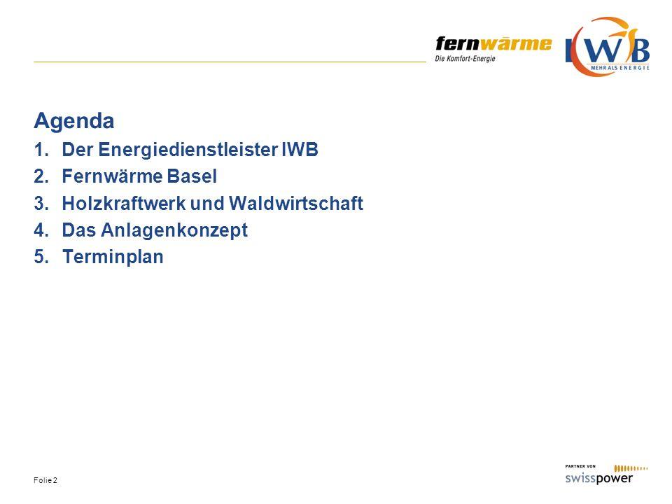 Folie 3 Die IWB Elektrizität Erdgas Trinkwasser Fernwärme Energiedienstleistungen Telecom-Dienstleistungen