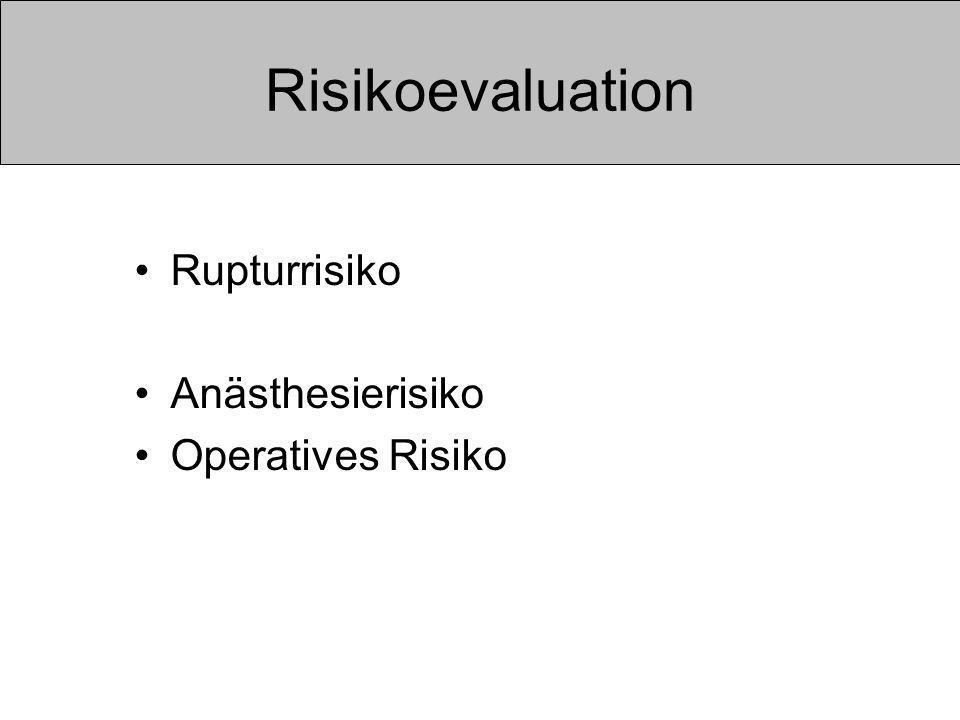 Risikoevaluation Rupturrisiko Anästhesierisiko Operatives Risiko