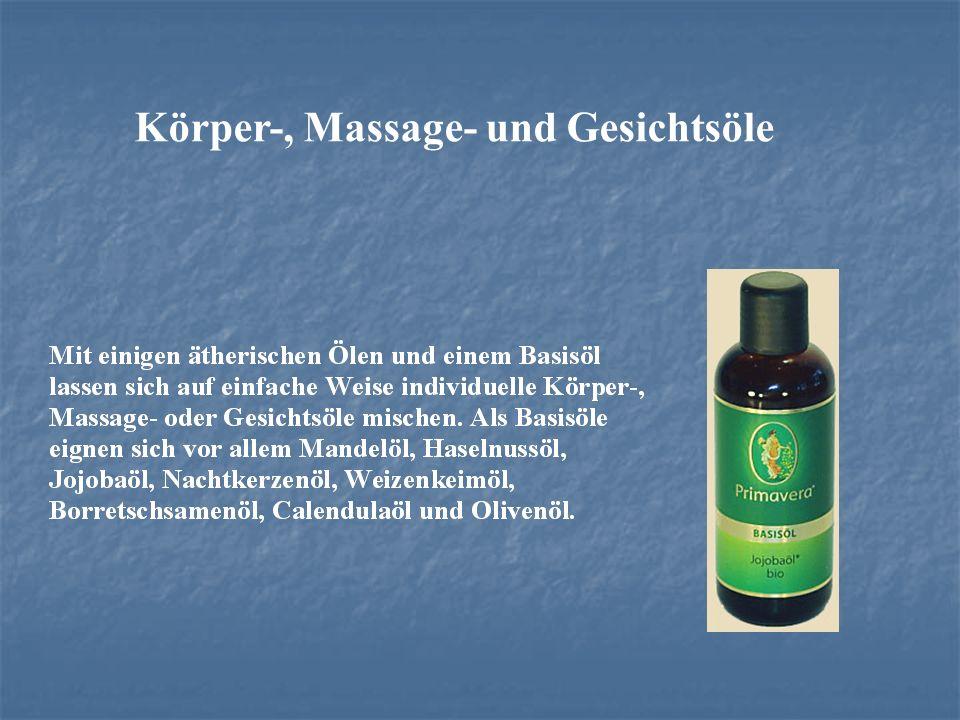 Körper-, Massage- und Gesichtsöle