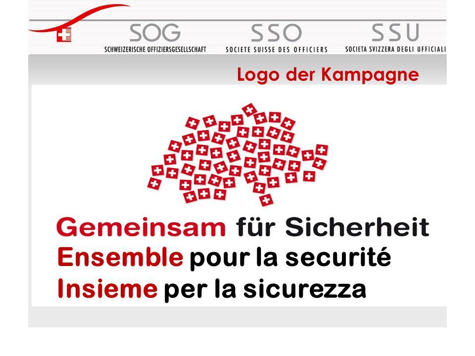 Ensemble pour la securité Insieme per la sicurezza Logo der Kampagne
