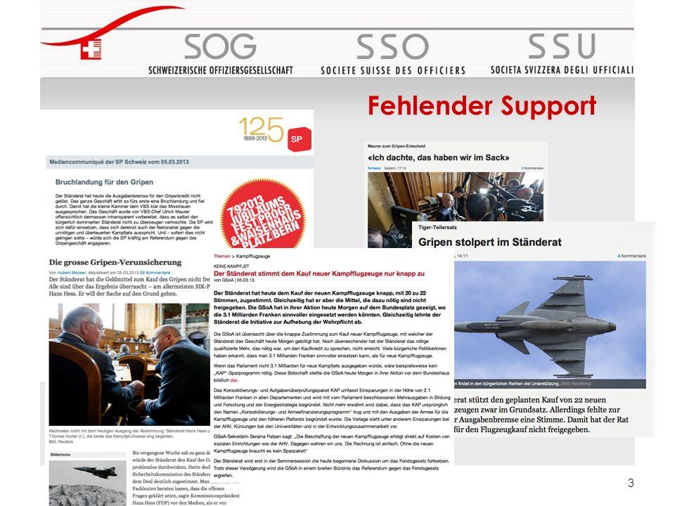 Fehlender Support 3