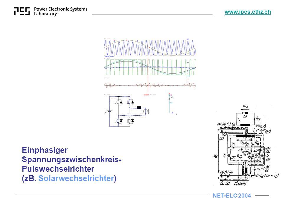 NET-ELC 2004 www.ipes.ethz.ch Thermische Instabilität eines Leistungs- halbleiters