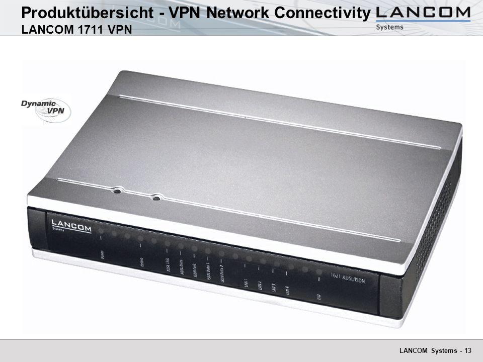 LANCOM Systems - 13 Produktübersicht - VPN Network Connectivity LANCOM 1711 VPN