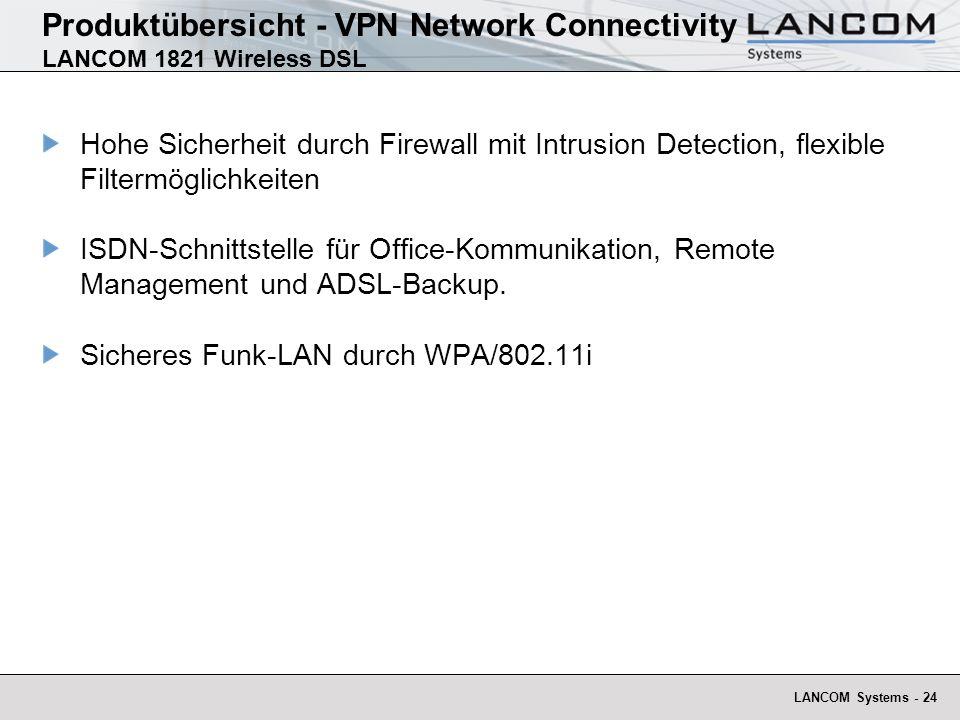 LANCOM Systems - 25 Produktübersicht - VPN Network Connectivity LANCOM Advanced VPN Client
